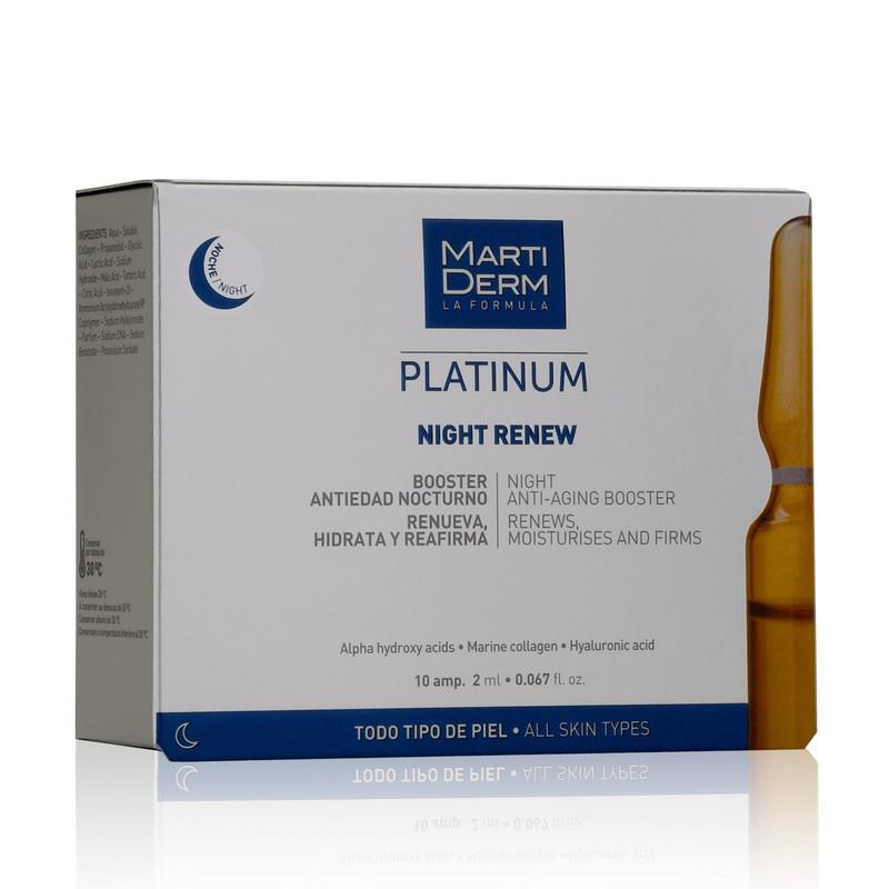 Martiderm Platinium Night Renew10 Amp