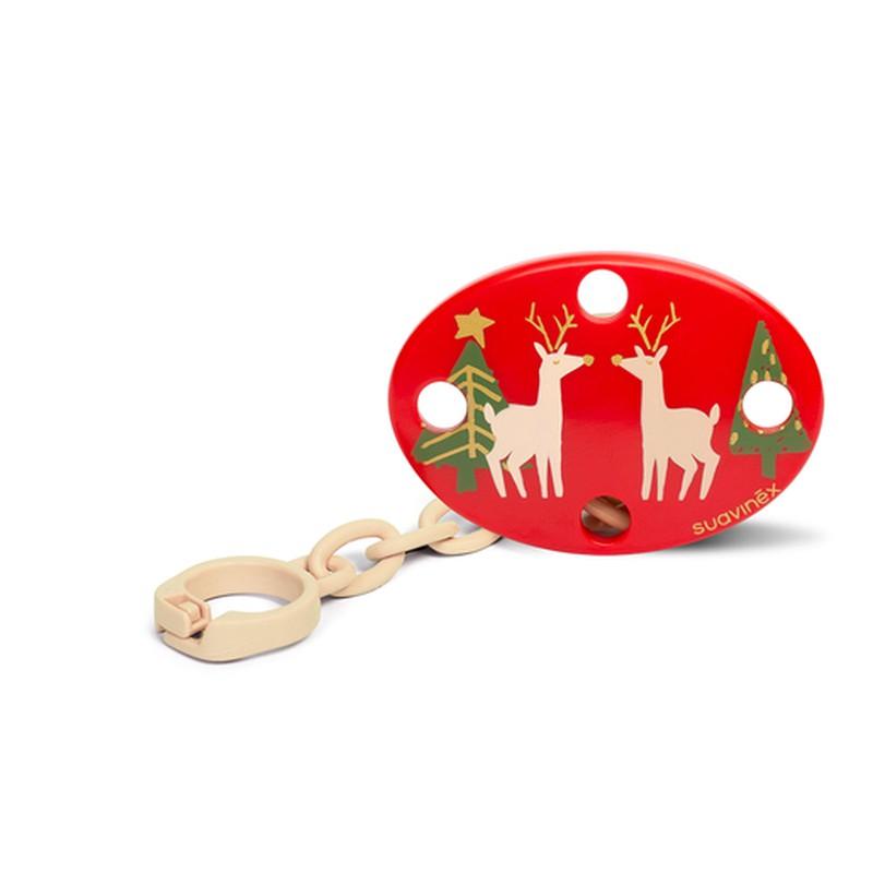 Suavinex Clip Pinza Oval Navidad Renos 0+M